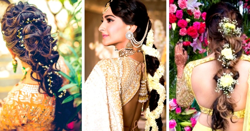 30 Best Indian Bridal Hairstyles Trending This Wedding Season! – Blog Pertaining To Fabulous Cascade Of Loose Curls Bridal Hairstyles (View 25 of 25)