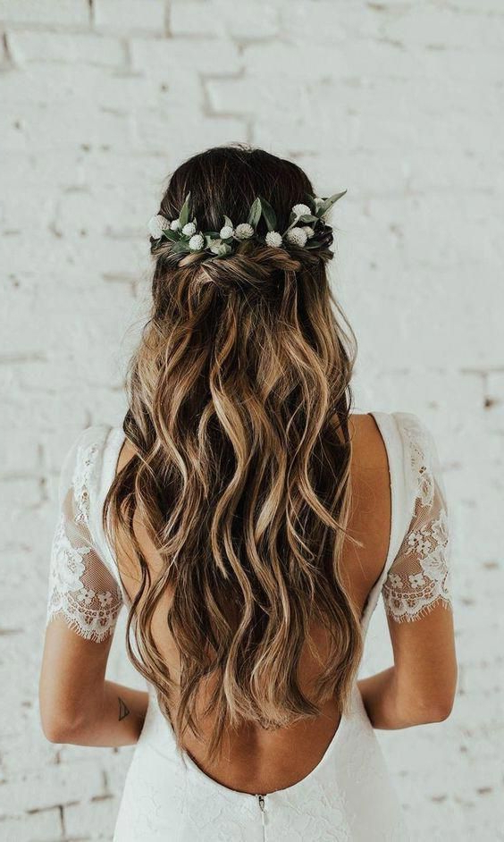 30+ Bridal Hairstyles For Perfect Big Day   Wedding Gowns And With Accessorized Undone Waves Bridal Hairstyles (View 7 of 25)