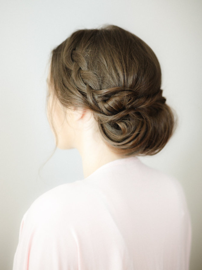 30 Bridesmaid Hairstyles Your Friends Will Actually Love | A Pertaining To Highlighted Braided Crown Bridal Hairstyles (View 19 of 25)