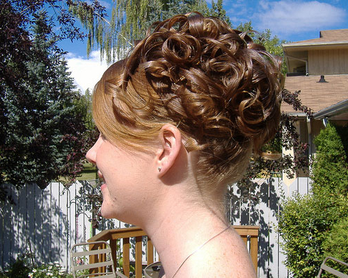 30 Curly Hair Updos Which Look Sleek | Creativefan With Regard To Pile Of Curls Hairstyles For Wedding (View 9 of 25)
