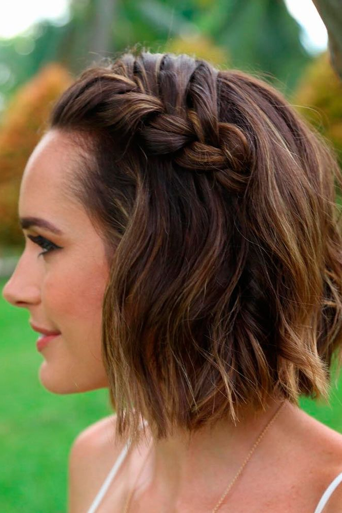 30 Cute Braided Hairstyles For Short Hair | Beauty | Short Hair Intended For Short Side Braid Bridal Hairstyles (View 5 of 25)