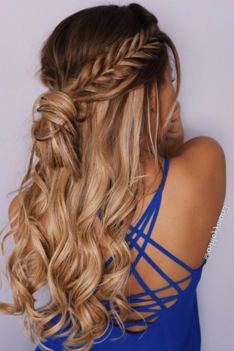30 Elegant Outdoor Wedding Hairstyles – Hairstyles & Haircuts For Pertaining To Wedding Semi Updo Bridal Hairstyles With Braid (View 24 of 25)