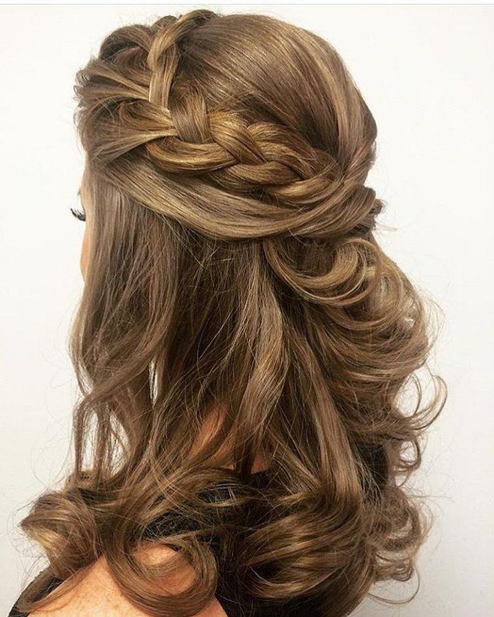 30 Half Up Half Down Wedding Hairstyles Ideas Easy   Misc   Hair Regarding Cute Formal Half Updo Hairstyles For Thick Medium Hair (View 4 of 25)