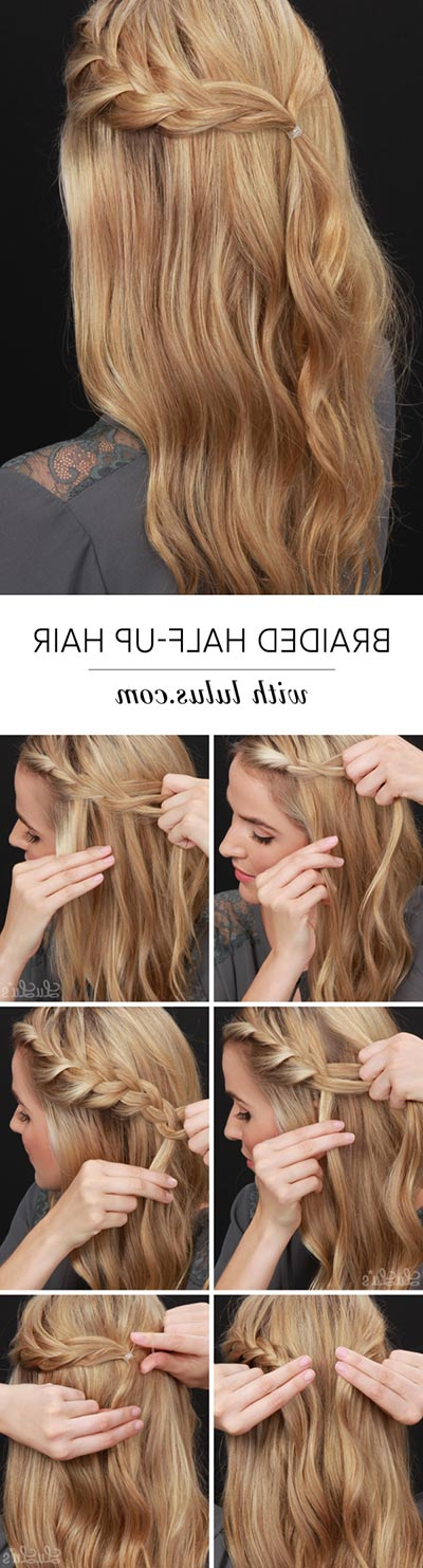 30 Most Flattering Half Up Hairstyle Tutorials To Rock Any Event For Simple And Cute Wedding Hairstyles For Long Hair (View 24 of 25)