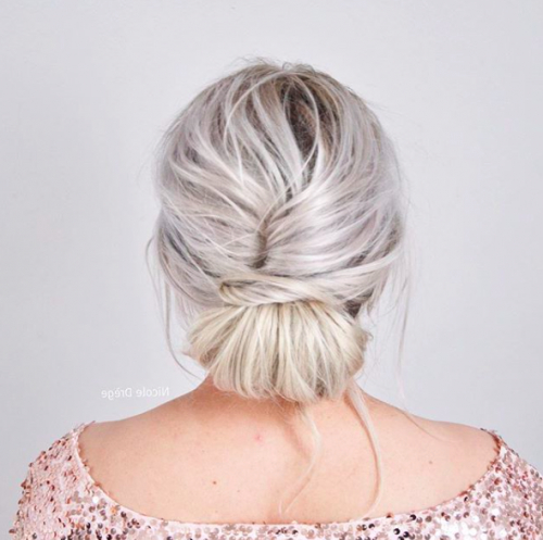 30 Mother Of The Bride Hairstyles 2017 | Herinterest/ Intended For Low Messy Bun Hairstyles For Mother Of The Bride (View 18 of 25)