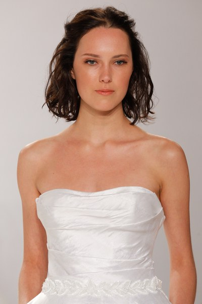 30 Pretty Wedding Hairstyles For Every Hair Length – Glamour Inside Pulled Back Bridal Hairstyles For Short Hair (View 15 of 25)