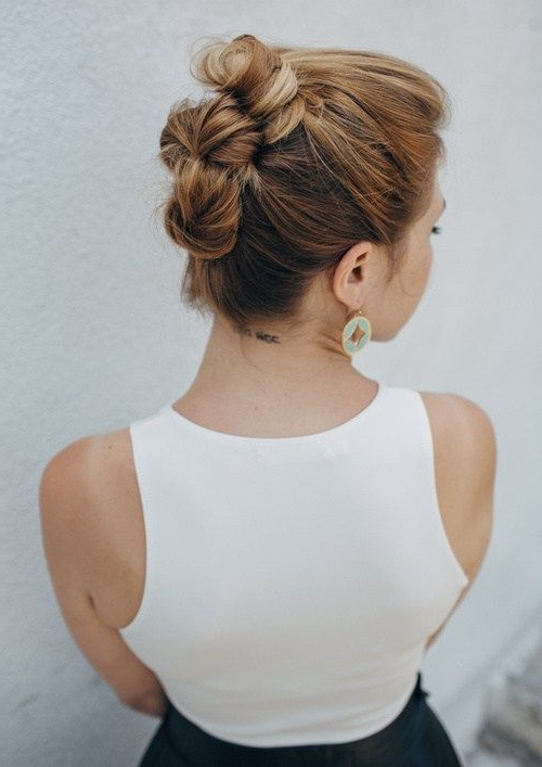 Featured Photo of Brushed Back Bun Bridal Hairstyles