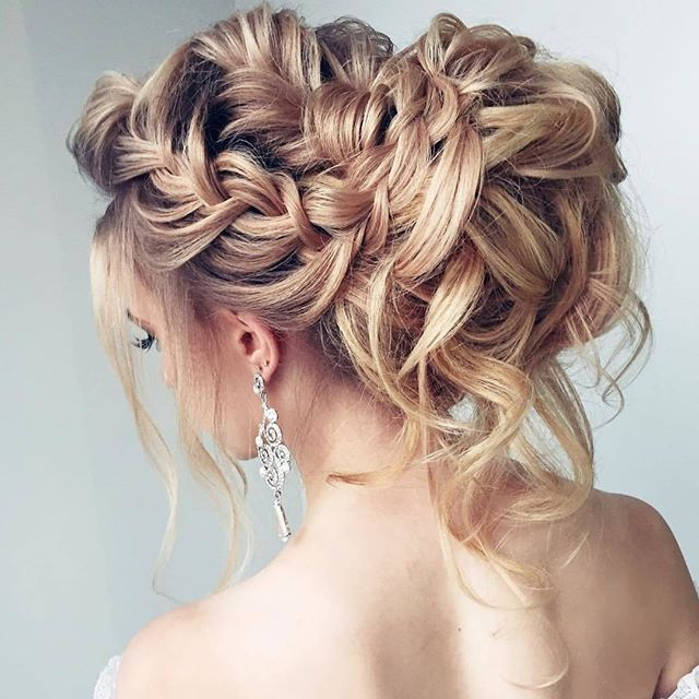 30 Romantic Messy Updos For Wedding 2019 Best Wedding Updos For Messy Bridal Updo Bridal Hairstyles (View 23 of 25)