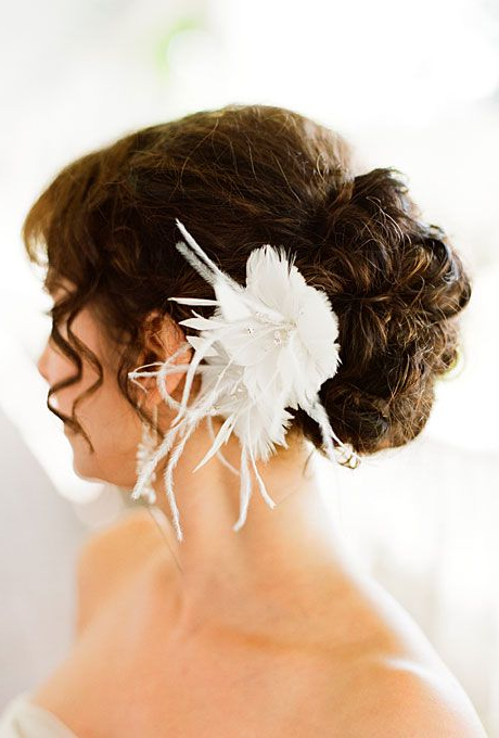 30 Romantic Wedding Hairstyles | To Be Wed | Pinterest | Wedding Regarding Curled Bridal Hairstyles With Tendrils (View 10 of 25)