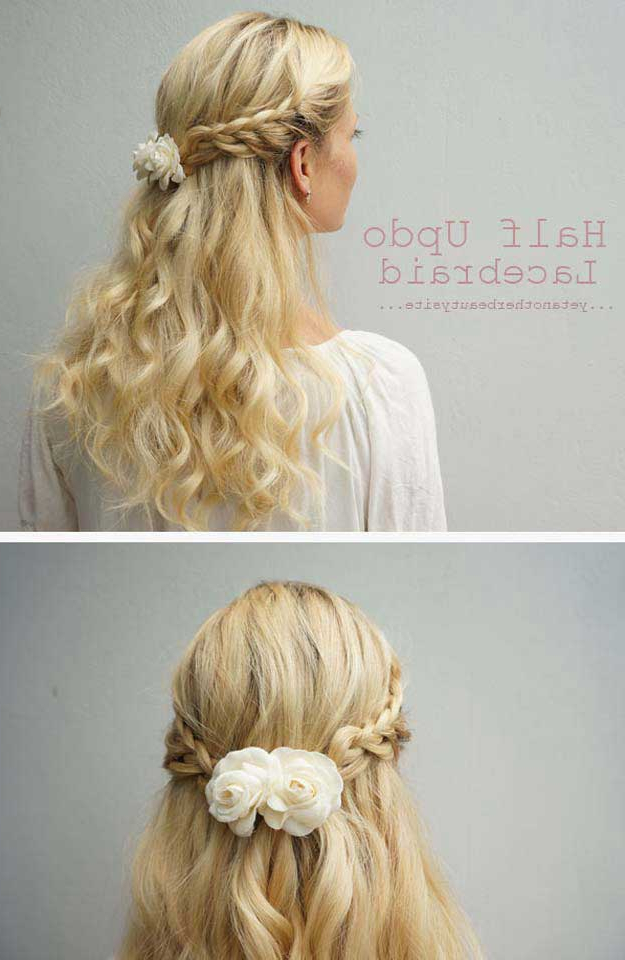 31 Amazing Half Up Half Down Hairstyles For Long Hair – The Goddess Within Medium Half Up Half Down Bridal Hairstyles With Fancy Knots (View 17 of 25)