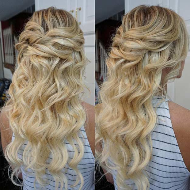 31 Half Up, Half Down Prom Hairstyles   Page 2 Of 3   Stayglam With Regard To Cute Formal Half Updo Hairstyles For Thick Medium Hair (View 24 of 25)
