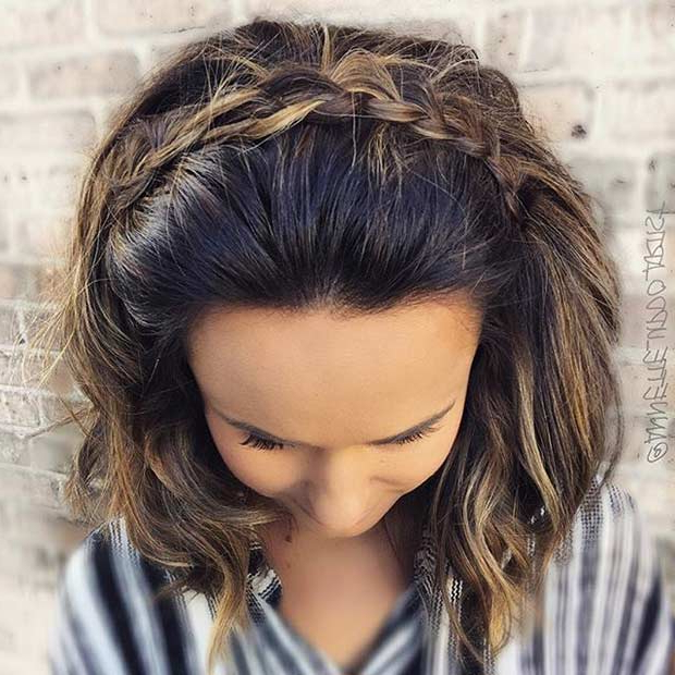 31 Wedding Hairstyles For Short To Mid Length Hair | Page 2 Of 3 For Soft Shoulder Length Waves Wedding Hairstyles (View 23 of 25)
