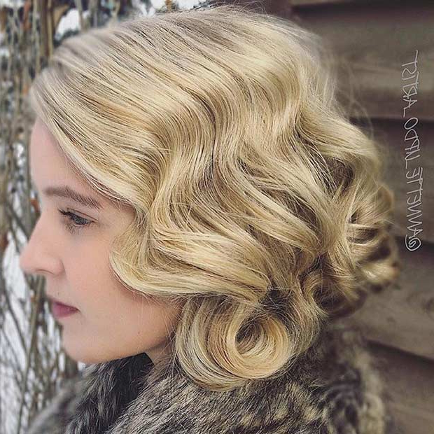 31 Wedding Hairstyles For Short To Mid Length Hair | Stayglam Inside Loose Wedding Updos For Short Hair (View 11 of 25)