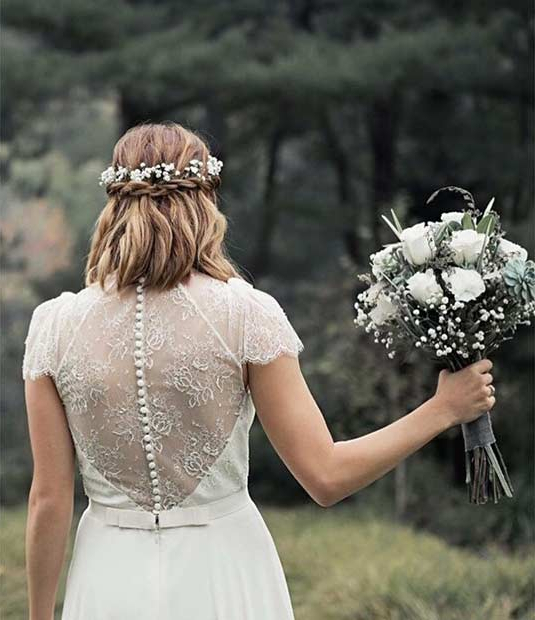 31 Wedding Hairstyles For Short To Mid Length Hair | Stayglam Regarding Simple Halfdo Wedding Hairstyles For Short Hair (View 12 of 25)