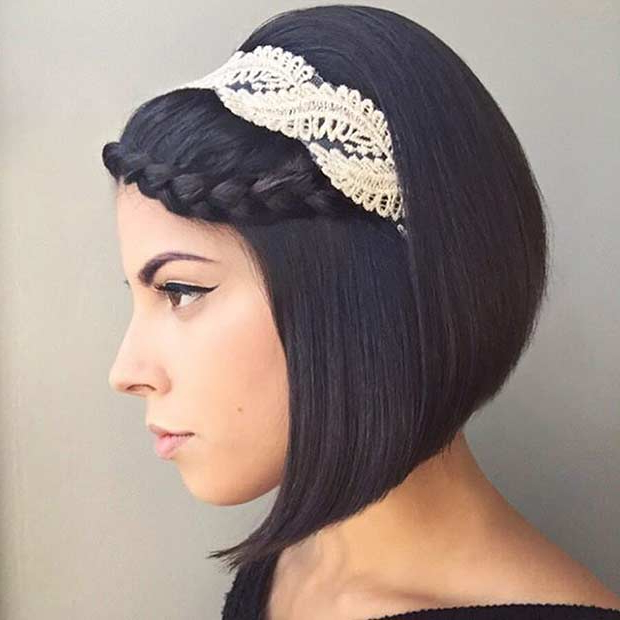 31 Wedding Hairstyles For Short To Mid Length Hair | Stayglam With Braided Bob Short Hairdo Bridal Hairstyles (View 13 of 25)