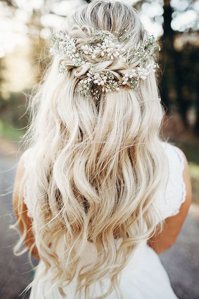 32 Wedding Hairstyles For Every Length | The 32 Prettiest Bridal With Twists And Curls In Bridal Half Up Bridal Hairstyles (View 17 of 25)