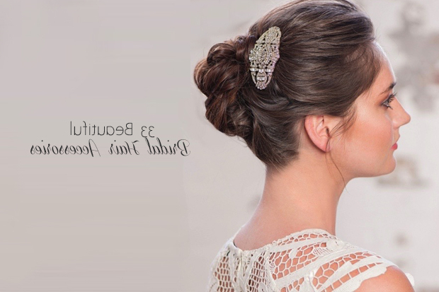 33 Incredible Hair Accessories For Brides   Weddingsonline Throughout Accessorized Undone Waves Bridal Hairstyles (View 24 of 25)