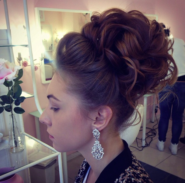 34 Stunning Wedding Hairstyles | Wedding Hairstyles | Pinterest Inside Large Curly Bun Bridal Hairstyles With Beaded Clip (View 13 of 25)