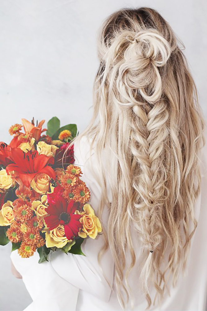 35 Boho Inspired Unique And Creative Wedding Hairstyle – My Stylish Zoo Regarding Bohemian And Free Spirited Bridal Hairstyles (View 21 of 25)