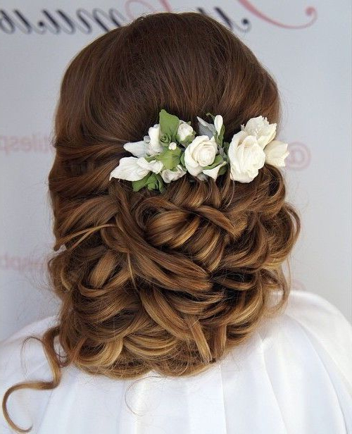 35 Chic Wedding Hair Updos For Elegant Brides – My Stylish Zoo For Embellished Caramel Blonde Chignon Bridal Hairstyles (View 9 of 25)