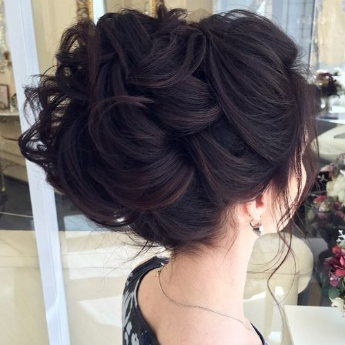 35 Chic Wedding Hair Updos For Elegant Brides – My Stylish Zoo For Swirled Wedding Updos With Embellishment (View 16 of 25)