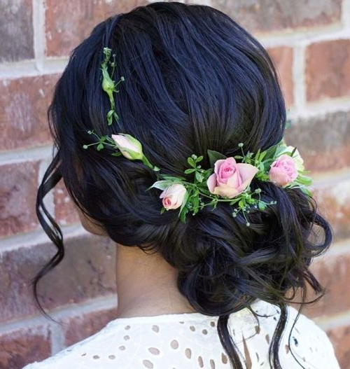 35 Chic Wedding Hair Updos For Elegant Brides – My Stylish Zoo Intended For Sleek Low Bun Rosy Outlook Wedding Updos (View 15 of 25)