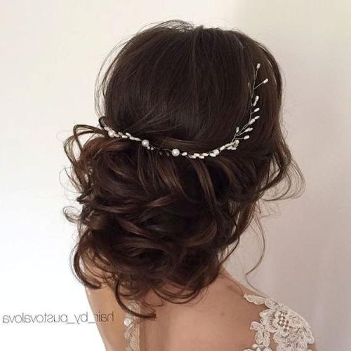 35 Chic Wedding Hair Updos For Elegant Brides – My Stylish Zoo Regarding Embellished Caramel Blonde Chignon Bridal Hairstyles (View 11 of 25)