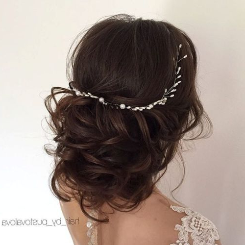 35 Chic Wedding Hair Updos For Elegant Brides – My Stylish Zoo Regarding Large Curly Bun Bridal Hairstyles With Beaded Clip (View 9 of 25)