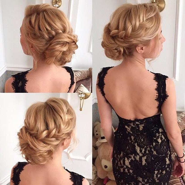 35 Gorgeous Updos For Bridesmaids | Stayglam Within Messy Buns Updo Bridal Hairstyles (View 18 of 25)