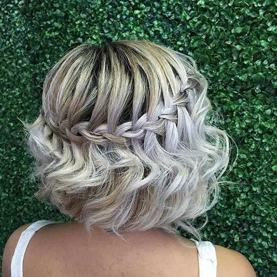 35 Modern Romantic Wedding Hairstyles For Short Hair Within Braided Bob Short Hairdo Bridal Hairstyles (View 4 of 25)