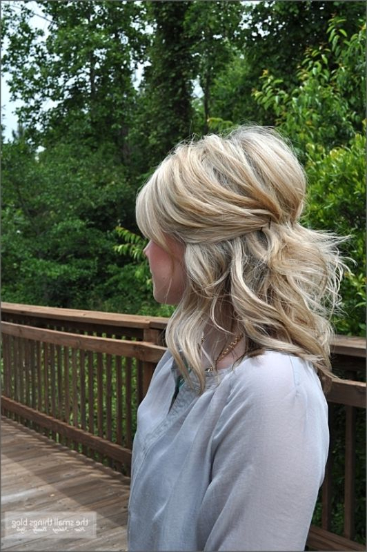 35 Pretty Half Updo Wedding Hairstyles | My Style In 2019 Pertaining To Simple Halfdo Wedding Hairstyles For Short Hair (View 3 of 25)
