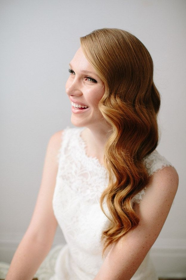 35 Wedding Hairstyles: Discover Next Year's Top Trends For Brides Pertaining To Loose Curls Hairstyles For Wedding (View 11 of 25)