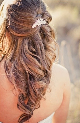 35 Wedding Hairstyles: Discover Next Year's Top Trends For Brides With Half Up Blonde Ombre Curls Bridal Hairstyles (View 19 of 25)