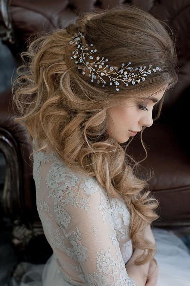 36 Rustic Wedding Hairstyles | Bridal Hairstyles | Wedding With Teased Wedding Hairstyles With Embellishment (View 5 of 25)