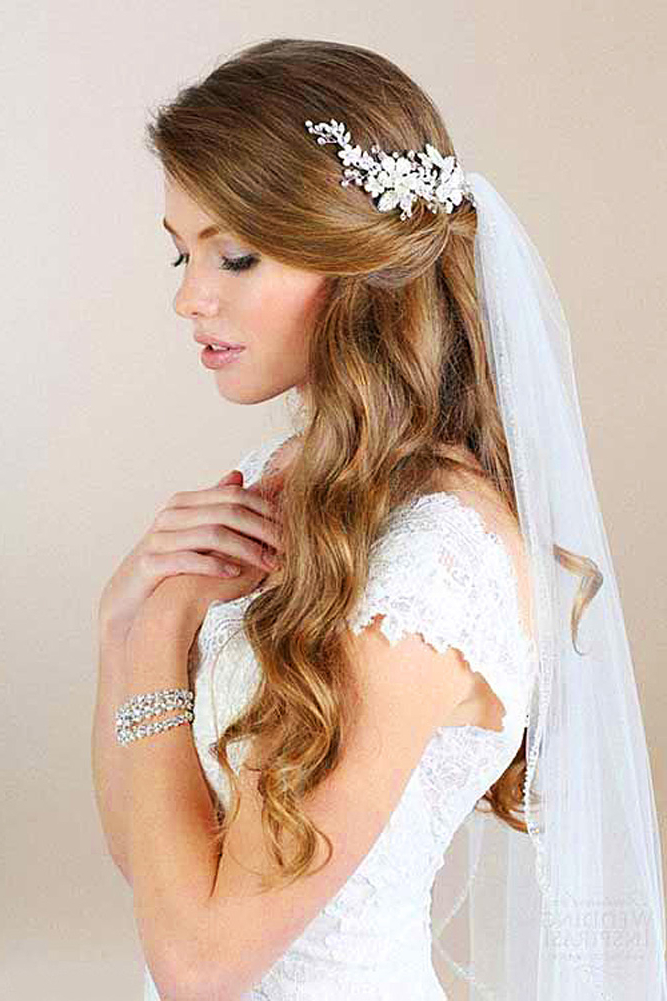 36 Wedding Hairstyles With Veil – My Stylish Zoo In Tender Bridal Hairstyles With A Veil (View 4 of 25)