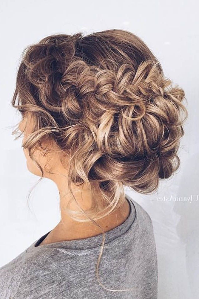 39 Braided Wedding Hair Ideas You Will Love | Made The Cut With Embellished Caramel Blonde Chignon Bridal Hairstyles (View 5 of 25)