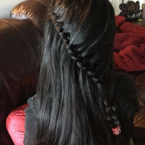 39 Of The Top Braid Hairstyles – Hairstyles & Haircuts For Men & Women Throughout Diagonal Waterfall Braid In Half Up Bridal Hairstyles (View 23 of 25)