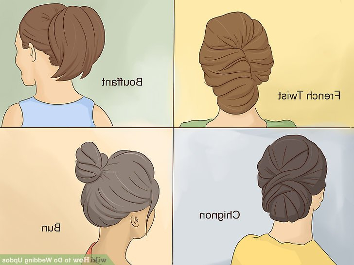 4 Ways To Do Wedding Updos – Wikihow Intended For Bouffant And Chignon Bridal Updos For Long Hair (View 15 of 25)