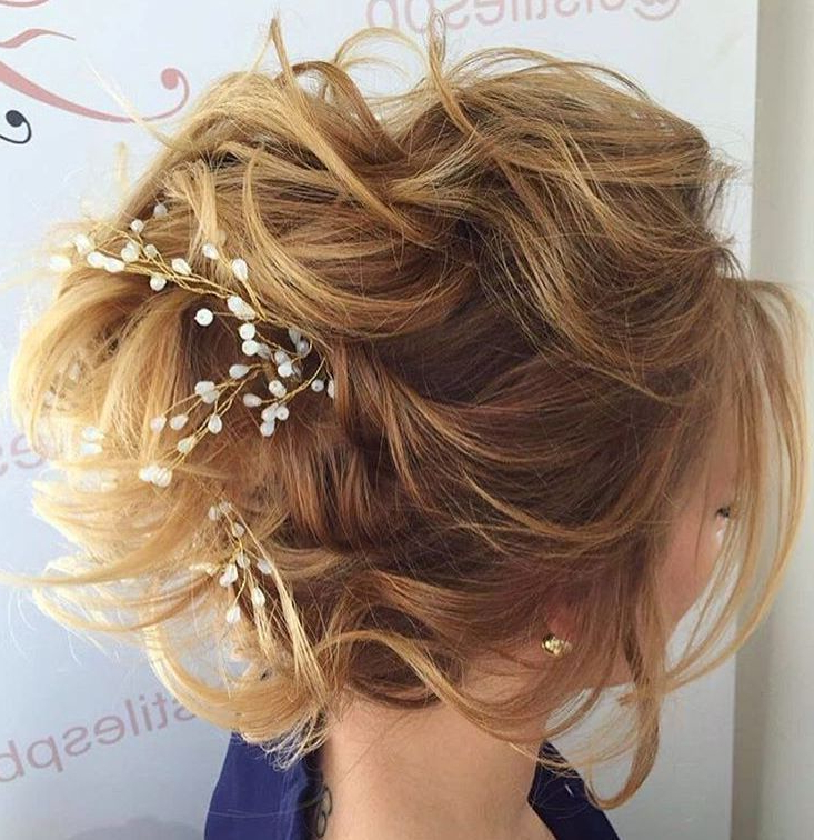 Featured Photo of Teased Wedding Hairstyles With Embellishment