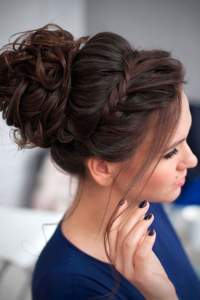 40 Chic Updo Hairstyles For Bridesmaids | Hairstyles And Makeup Pertaining To Bold Blonde Bun Bridal Updos (View 16 of 25)