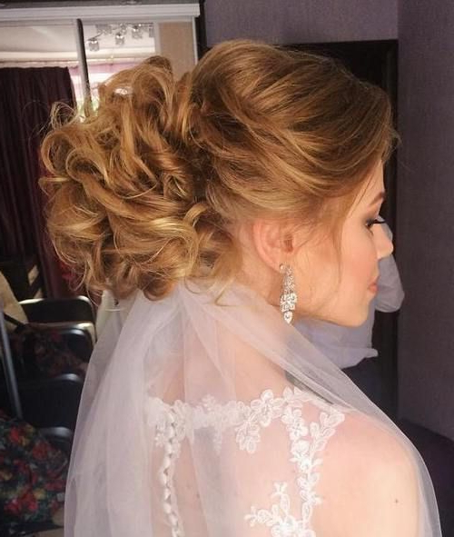 40 Chic Wedding Hair Updos For Elegant Brides | Hair | Wedding Regarding Swirled Wedding Updos With Embellishment (View 8 of 25)