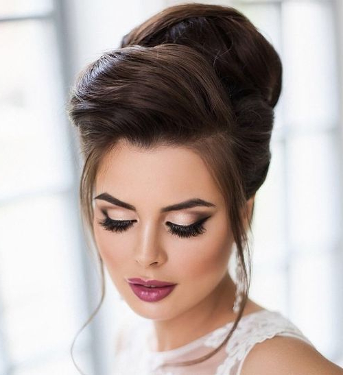 Featured Photo of Sleek And Voluminous Beehive Bridal Hairstyles