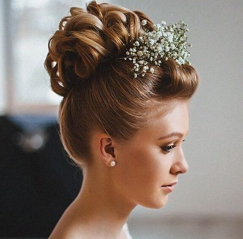 40 Chic Wedding Hair Updos For Elegant Brides | Weddings Now For The Throughout Pompadour Bun Hairstyles For Wedding (View 9 of 25)