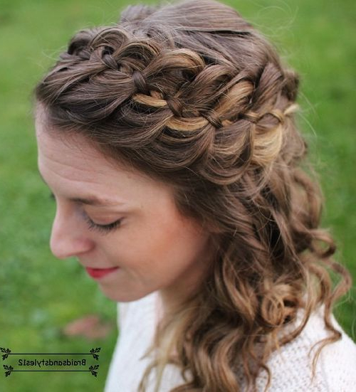 40 Cute And Comfortable Braided Headband Hairstyles Pertaining To Crown Braid, Bouffant And Headpiece Bridal Hairstyles (View 7 of 25)