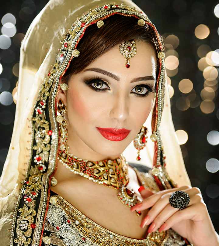 40 Indian Bridal Hairstyles Perfect For Your Wedding In Dimensional Waves In Half Up Wedding Hairstyles (View 21 of 25)