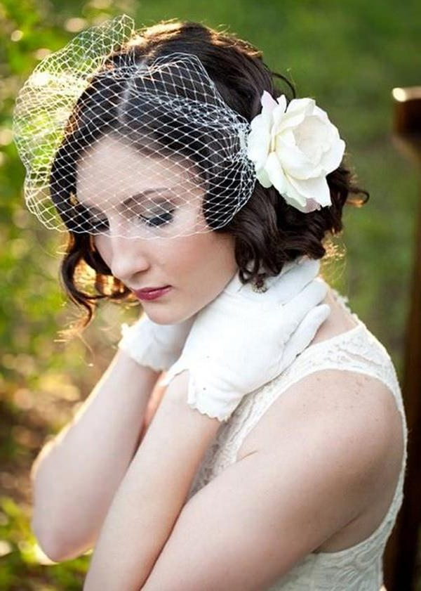 40 Of The Most Amazing Wedding Hairstyles For Your Big Day Inside Pulled Back Bridal Hairstyles For Short Hair (View 5 of 25)