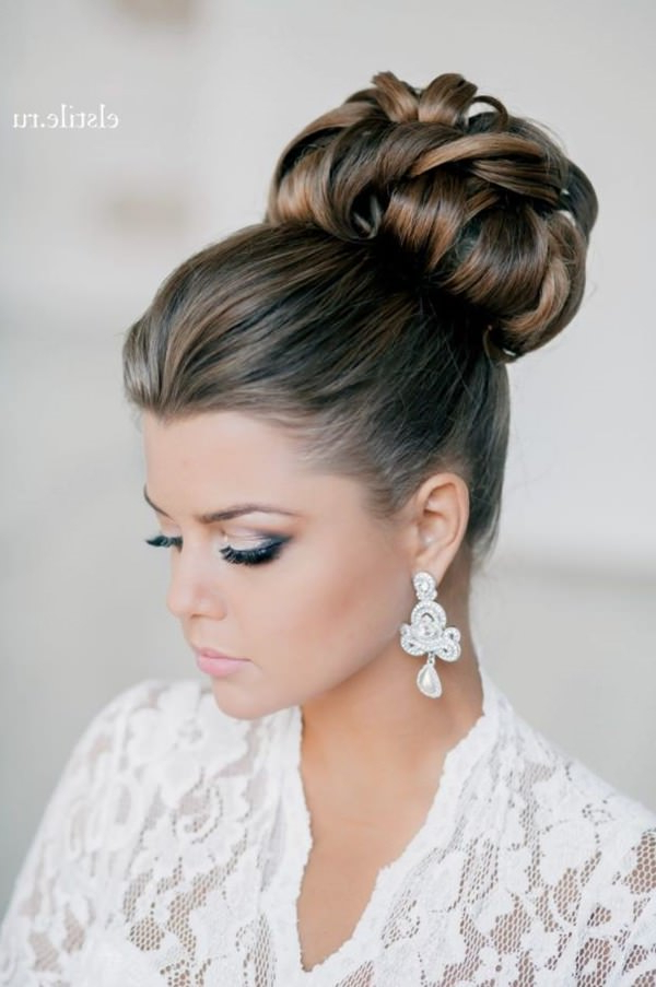 40 Of The Most Amazing Wedding Hairstyles For Your Big Day With Regard To Sleek And Big Princess Ball Gown Updos For Brides (View 5 of 25)