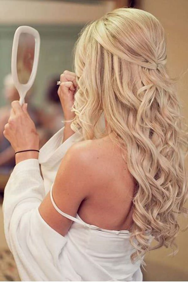 40 Of The Most Amazing Wedding Hairstyles For Your Big Day Within Half Up Wedding Hairstyles With Jeweled Clip (View 13 of 25)