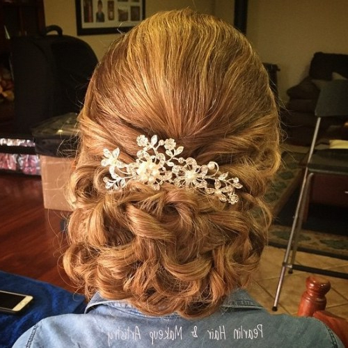 40 Ravishing Mother Of The Bride Hairstyles – Page 13 – Foliver Blog Intended For Delicate Curly Updo Hairstyles For Wedding (View 13 of 25)