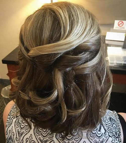 40 Ravishing Mother Of The Bride Hairstyles – Page 19 – Foliver Blog Throughout Simplified Waterfall Braid Wedding Hairstyles (View 17 of 25)